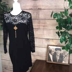 H&M women's black dress size Large.